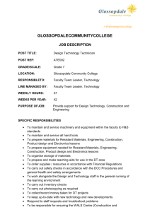 Job Description - Glossopdale Community College