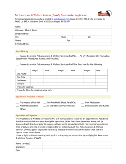 Complete Vet Participation Form - Pet Awareness & Welfare Services