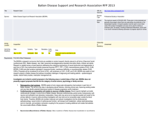 Batten Disease Support and Research Association RFP 2013 Title
