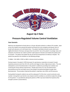 August Up 2 Date Pressure-Regulated Volume Control Ventilation