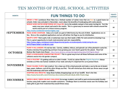 Ten Months of Pearl School Activities (.doc)