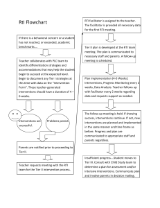 RtI Flowchart If there is a behavioral concern or a student has not