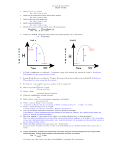 Chemical Reactions Part 2 Study guide answers