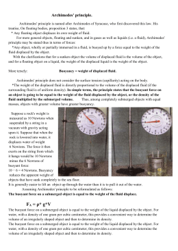 Physics archimedes principle lab report