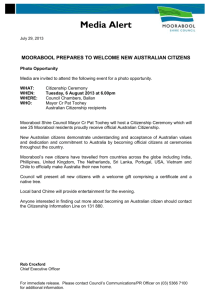 Citizenship ceremony - Moorabool Shire Council