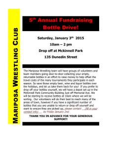 5 th Annual Fundraising Bottle Drive!