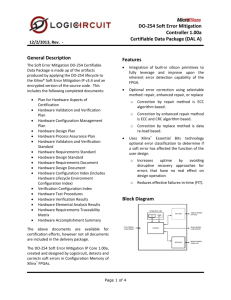 The DO-254 Soft Error Mitigation Controller 1.00a is