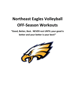 "Northeast Eagles Volleyball OFF-Season Workouts ""Good, Better"