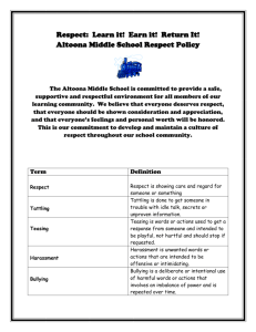 Respect Policy - Wisconsin PBIS Network