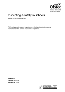 Inspecting e-Safety in Schools (briefing)