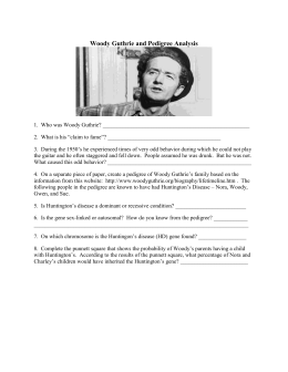 Woody Guthrie pedigree worksheet