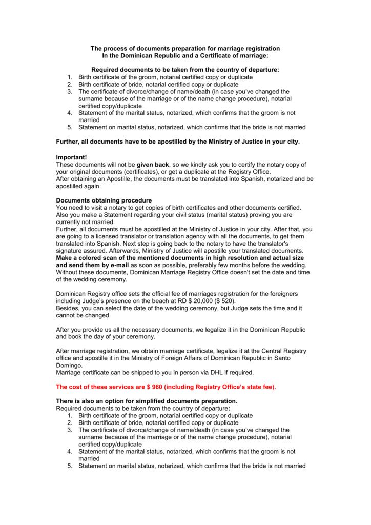 Statement And Required Documentsprocedures List