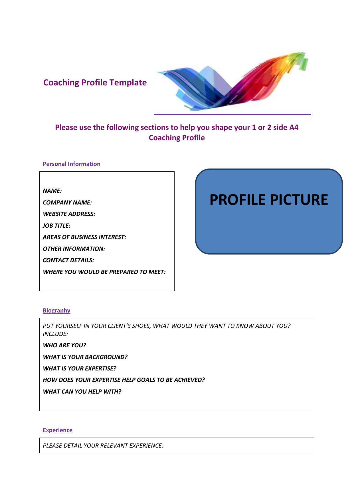Coaching Profile 2015