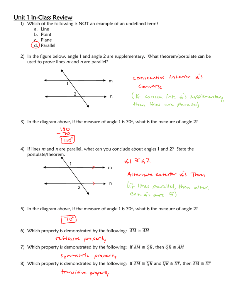 Worksheet With Answers