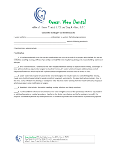 Consent for Oral Surgery - Ocean View Dental Hawaii
