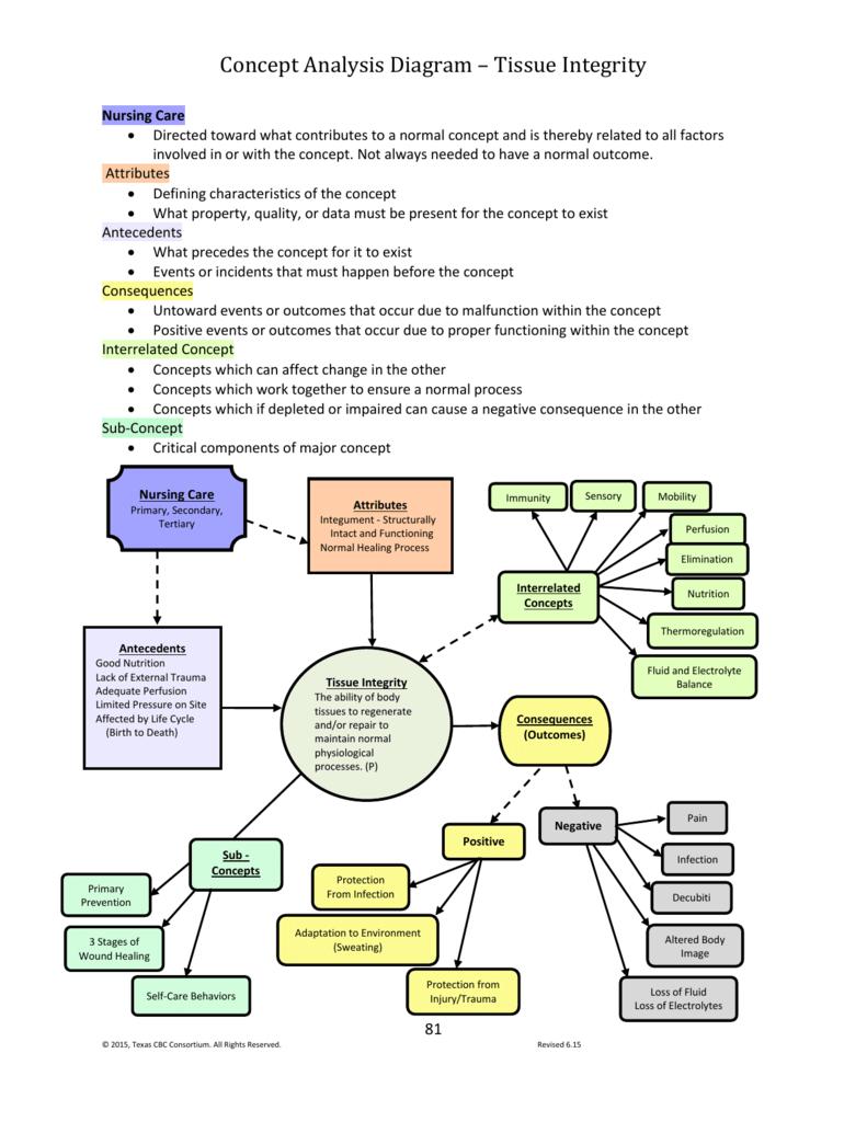 Concept Analysis Diagram * Tissue Integrity