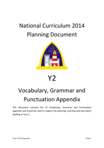 Year 2 Vocabulary, Grammar and Punctuation Appendix Happisburgh