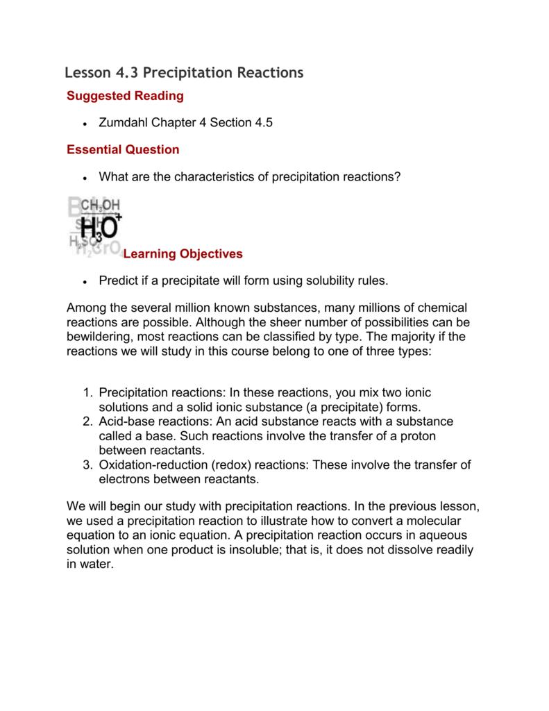 Lesson 43 precipitation reactions – Precipitation Reactions Worksheet