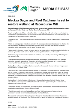 Mackay Sugar and Reef Catchments restore land at Racecourse Mill