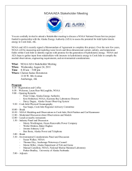 NOAA/AEA Stakeholder Meeting You are cordially invited to attend a