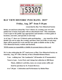 Guide - The Bay View Historical Society