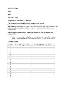 Student Worksheet Name: Date: Instructor`s Name: Assignment