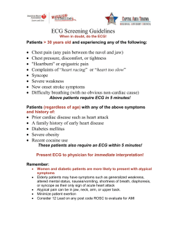 ECG Screening Guidelines ()