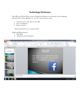 Technology Dictionary Assignment