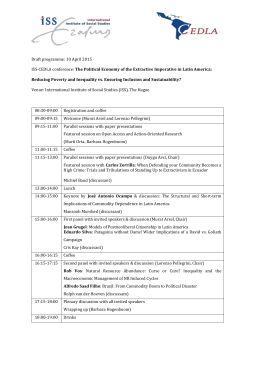 Draft programme: 10 April 2015 ISS