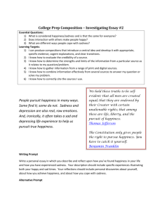 College Prep Composition – Investigating Essay #2