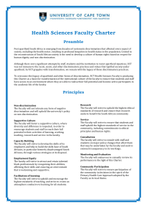 Faculty Charter