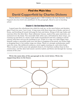 Main Idea Worksheets | David Copperfield