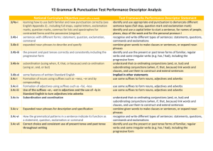 Compare Y1-2 GPS objectives to framework