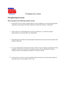 Communication-handout