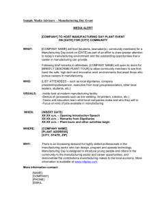 media alert - Manufacturing Day
