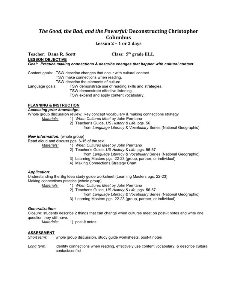 Worksheets Making Generalizations Worksheets lesson 2