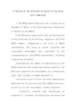 IV MEETING OF THE MINISTERS OF HEALTH OF THE BRICS