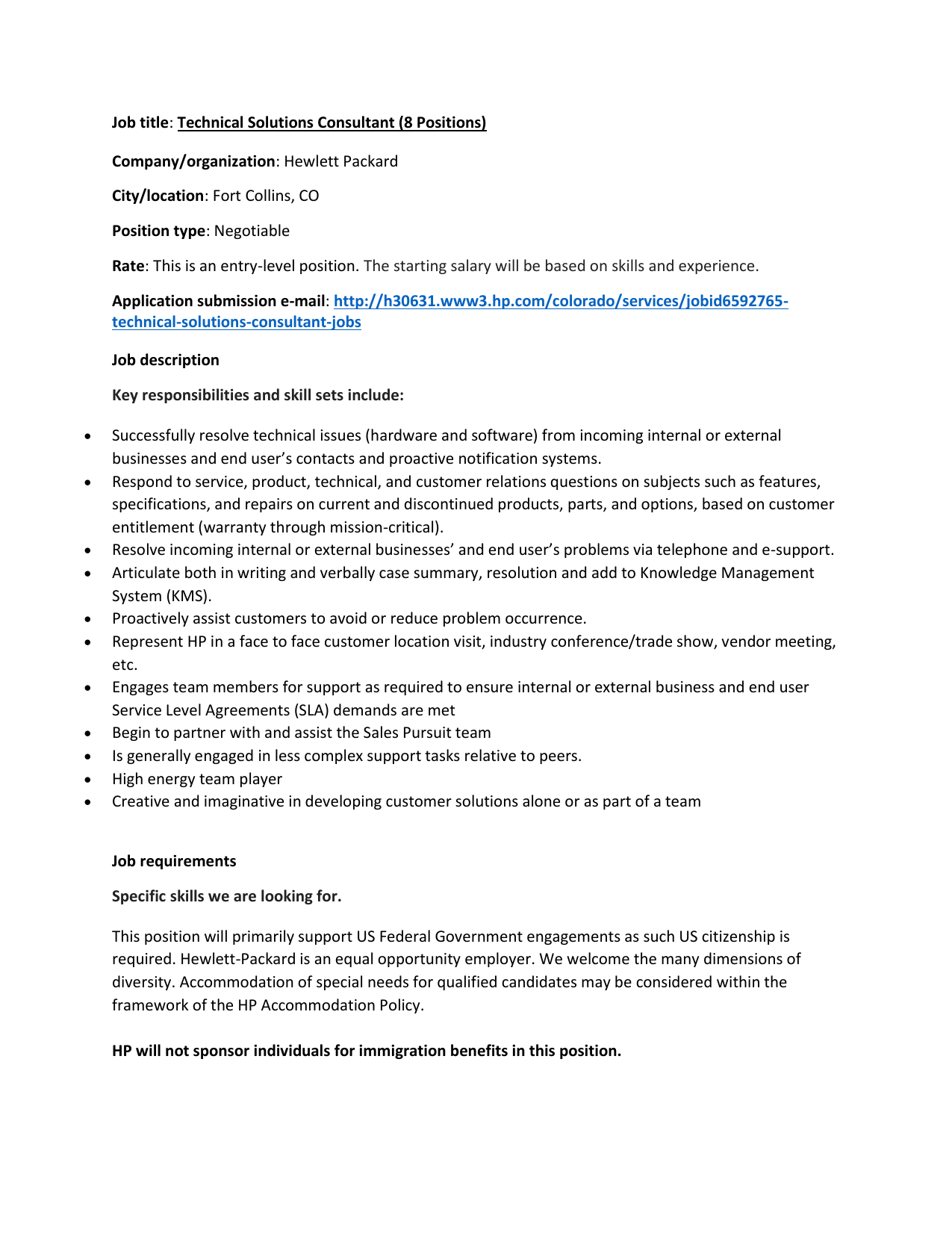 technical consultant job description technical consultant job description