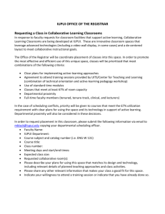 Requesting Collaborative Learning Classroom