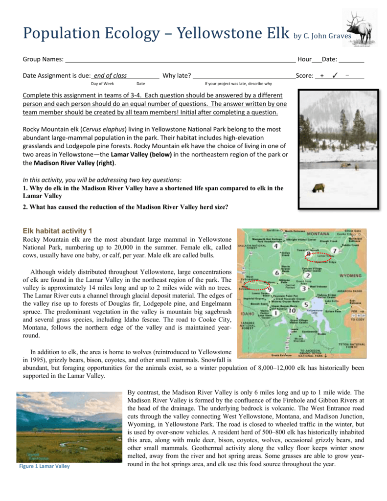 Best Ever Yellowstone National Park Wolves Worksheet ...