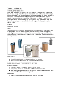 Design Brief – Litter Bin