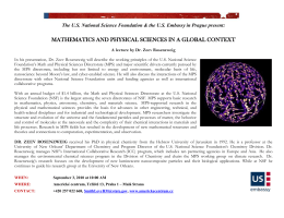 MATHEMATICS AND PHYSICAL SCIENCES IN A GLOBAL CONTEXT