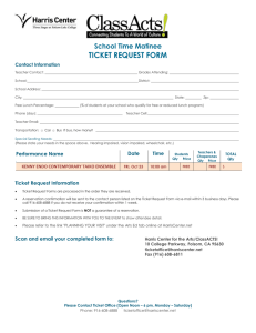 Ticket Request Forms
