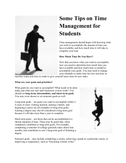 Time-Management-Tips - Robeson Community College