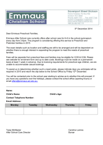 reschool afters Expression of interest 2015