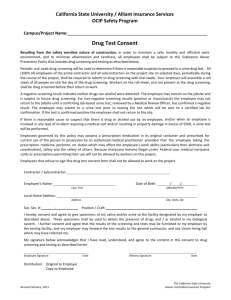 Drug Test Consent - The California State University