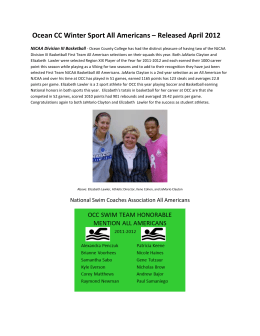 Ocean CC Winter Sport All Americans – Released April 2012
