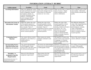 GLO Information Literacy