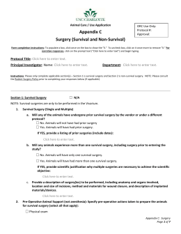 Appendix C: Survival and/or Non