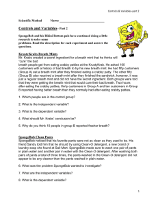 8 Sponge Bob Part2 Worksheet + Answers